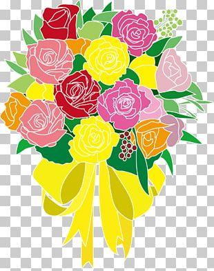 Garden Roses Illustration Floral Design Cut Flowers PNG