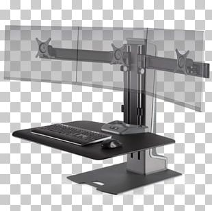 Sit-stand Desk Standing Desk Monitor Mount Multi-monitor Workstation PNG