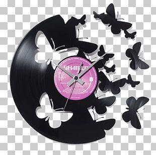 Alarm Clock Living Room Wall Phonograph Record PNG