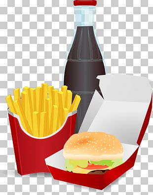Junk Food Fast Food Hamburger Fizzy Drinks French Fries PNG