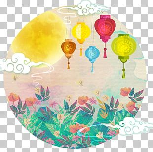 Mooncake Mid-Autumn Festival Illustration PNG