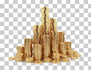 Gold Coin Stock Photography Stack PNG