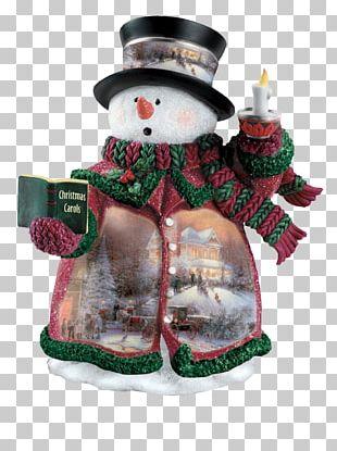 Snowman Christmas Decoration Santa Claus Thomas Kinkade Painter Of Light PNG
