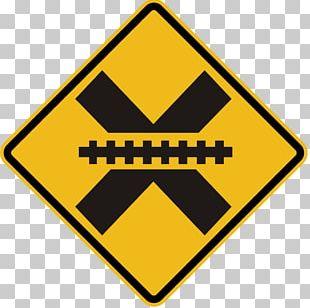Level Crossing Rail Transport Crossbuck Road Sign PNG