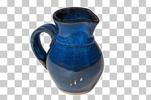 Jug Ceramic Vase Pottery Cobalt Blue PNG