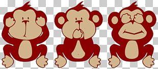 The Evil Monkey Three Wise Monkeys PNG