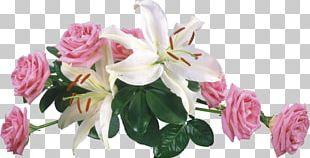 Wedding Invitation Lilium Candidum Rose Flower Bouquet PNG