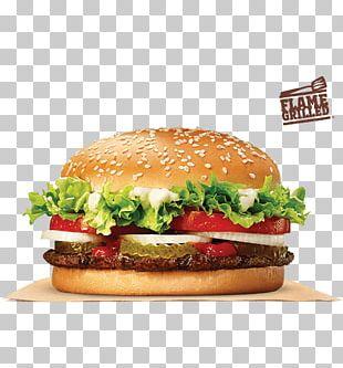 Whopper Hamburger Fast Food Chicken Sandwich Cheeseburger PNG