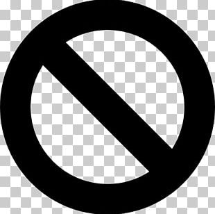 Slash No Symbol Sign PNG