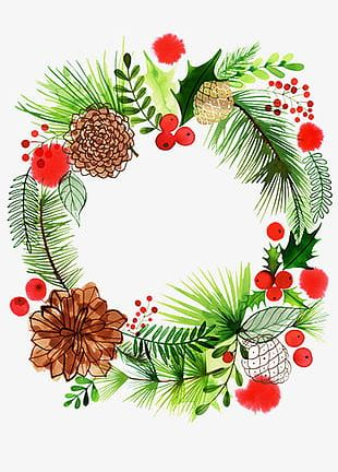 Christmas Wreath Element PNG