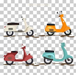 Kick Scooter Car Electric Motorcycles And Scooters Illustration PNG