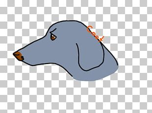 Dog Snout Animated Cartoon Font PNG