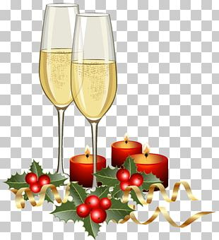Champagne Christmas PNG