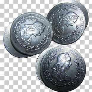 Silver Coin Button Metal Gold PNG