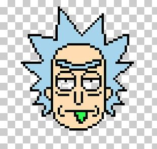 Rick Sanchez Morty Smith Bead Pixel Art PNG