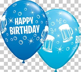 Beer Balloon Birthday Cake Party PNG