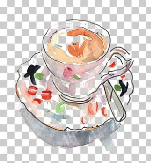 Black Tea Cappuccino Coffee Cup Teacup PNG