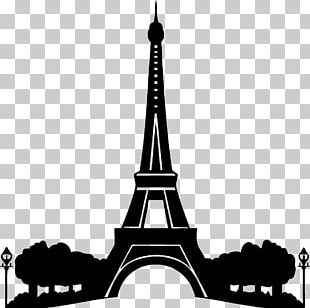 Eiffel Tower Wall Decal Stencil PNG