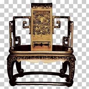 Emperor Of China Table Chair Throne PNG