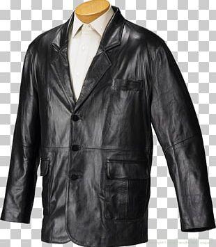 Leather Jacket Blazer Smoking Jacket PNG