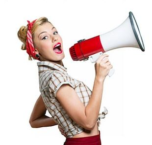 Woman Screaming Stock Photography Megaphone PNG