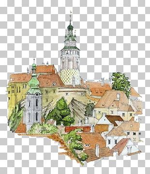 Drawing Watercolor Painting Architecture Illustration PNG