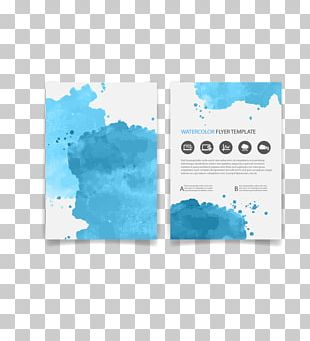 Flyer Brochure Watercolor Painting Euclidean PNG