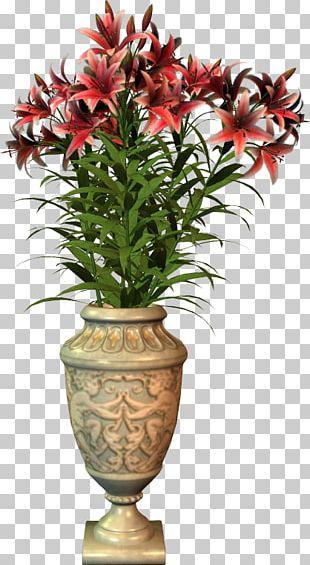 Flowers In A Vase Flowerpot PNG