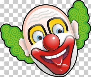 Joker Evil Clown Face PNG
