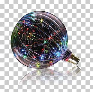 Incandescent Light Bulb Edison Screw LED Lamp Color PNG