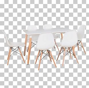 Eames Lounge Chair Wood Table Furniture PNG