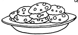 Black And White Cookie Chocolate Chip Cookie Biscuit PNG
