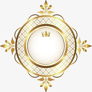 Hand Painted Golden Circle PNG