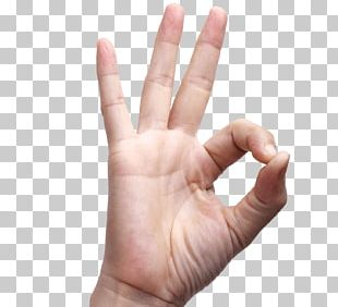 OK Finger Hand Sign Language PNG
