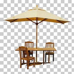 Table Chair Umbrella PNG