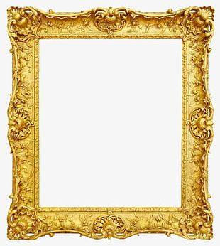 Gold Photo Frame PNG