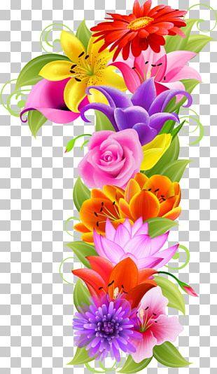 Floral Design Flower Number PNG