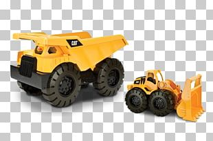 Bulldozer Model Car Dump Truck Heavy Machinery Toy PNG