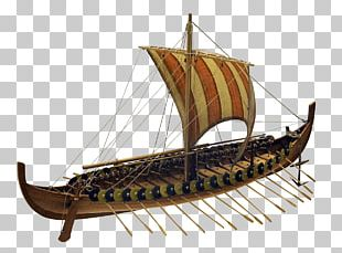 Large Viking Boat PNG