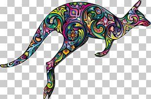 Australia Kangaroo Tattoo Abstract Art PNG