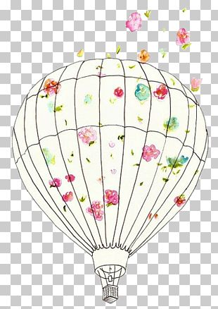 Flight Hot Air Balloon Illustration PNG