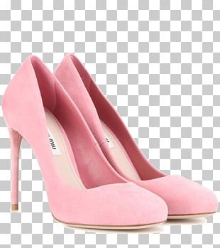 Court Shoe High-heeled Footwear Pink Suede PNG