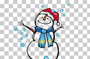 Winter Snowman Cartoon Christmas PNG