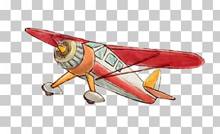 Airplane Watercolor Painting PNG