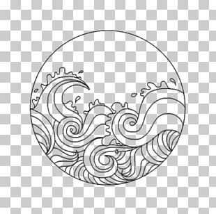 The Great Wave Off Kanagawa Drawing Wind Wave Waves Audio PNG