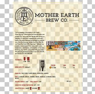 Craft Beer Mother Earth Brewing Company Brewery Food PNG