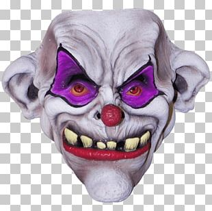 Mask Evil Clown Face Halloween PNG