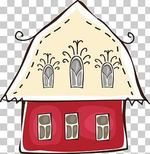 Cartoon House Building PNG