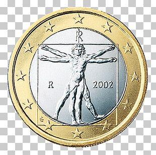 Italian Euro Coins 1 Euro Coin 2 Euro Coin 1 Cent Euro Coin PNG