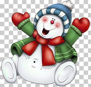 Snowman With Scarf PNG